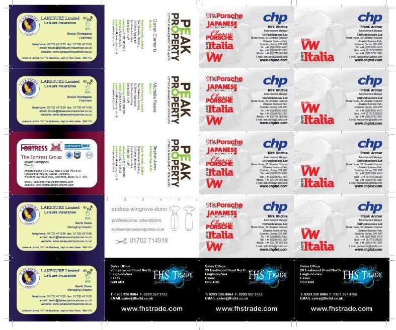 printed business cards. You want to get cards for marketing to promote yourself
