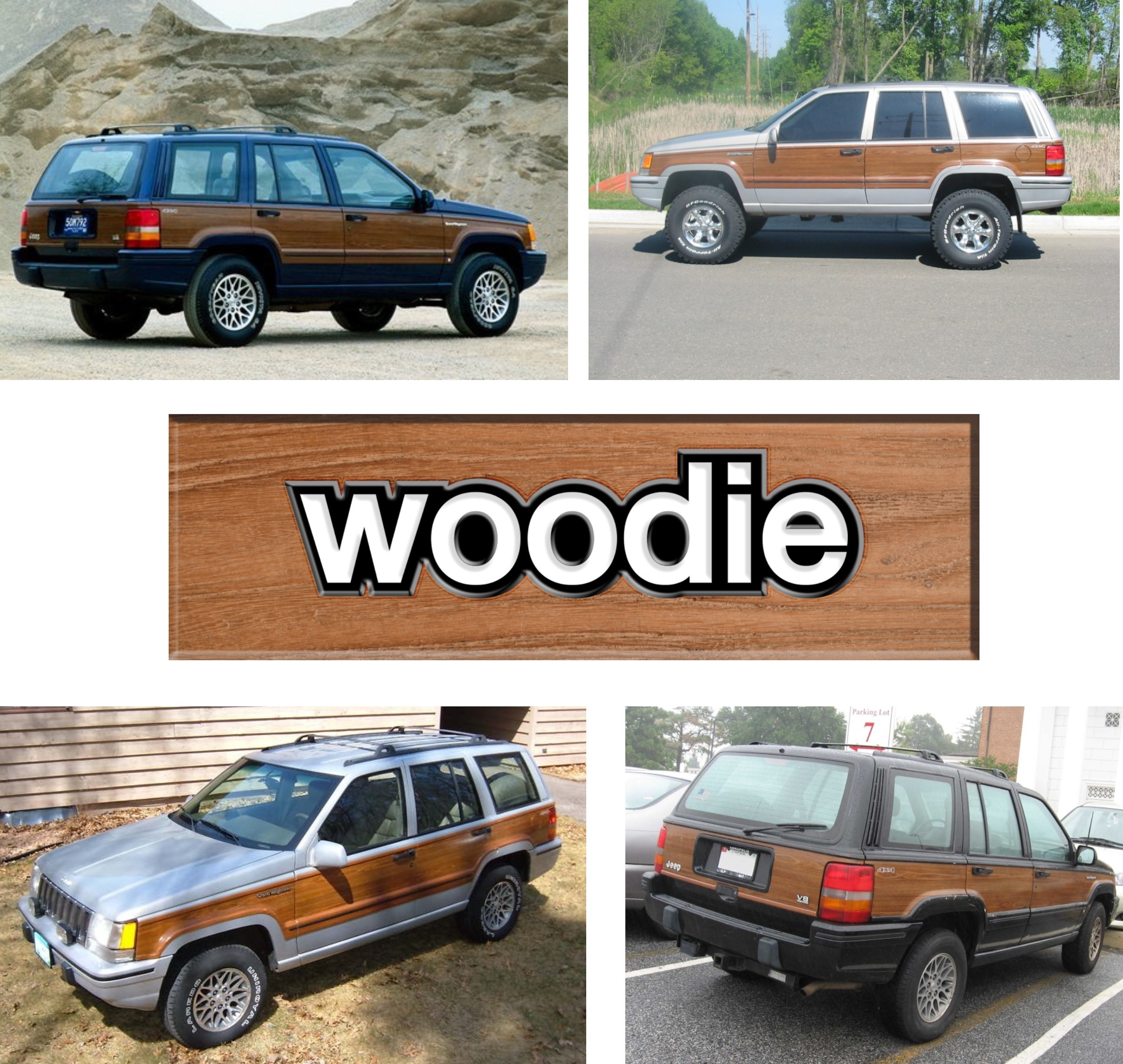 Jeep Grand Cherokee ZJ woodie. There were 1,251,473 Jeep Grand Cherokee ZJ's built. Of that, only 6378 were Grand Wagoneers. The 1993 Woodies with 3M-DI-NOC-Marine-Teak-Wood-Vinyl wood grain are as rare as hens teeth. Expect to see Retromod versions popping up for sale soon. They represent only half a percent or 0.5% of the total production.