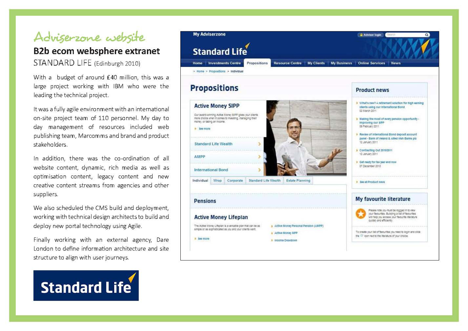 Adviserzone webpage offering cloud based tools
