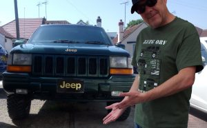 Jeep Grand Cherokee or Grand Wagoneer or ZJ Woodie ZJ/ZG 1993-1998 T shirt (MILITARY GREEN) $23.99