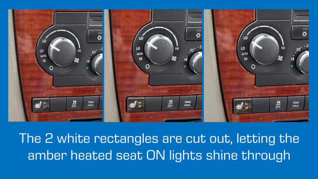 WK Heated Seat Button Repair