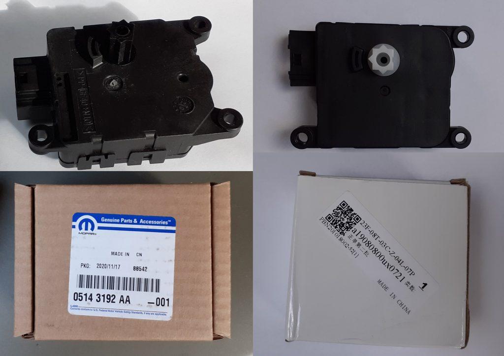 HVAC Blend Control Air Door Actuator Mopar part 05143192AA for Jeep WK XK